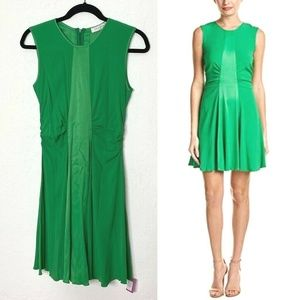 Sandro Risla Dress Green Meadow Stretch Sleeveless